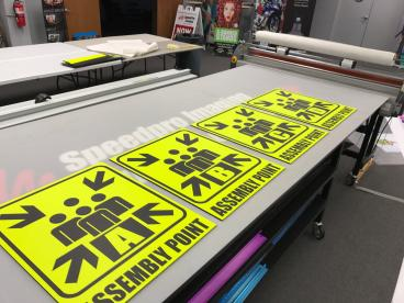 Assembly Point Signs!