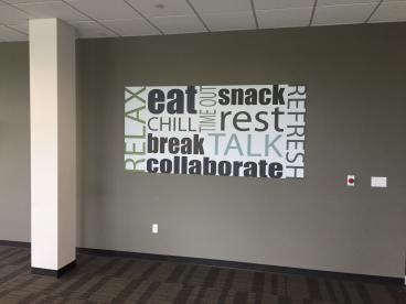 Wall Mural in Break Room!
