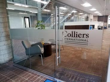 Frosted Window Vinyl Graphics for Colliers International in Princeton, NJ