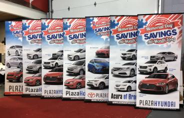 Memorial Day Banner Stands