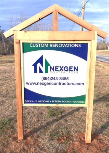 NEXGEN Contractors Sign, SpeedPro Greenville