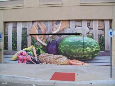 Barricade Wall Mural Graphics, Watters Creek, Allen, TX