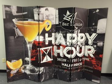 Bar Louie Point of Purchase Customer Graphic