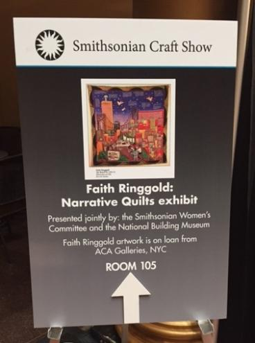 Smithsonian Craft Show Sign