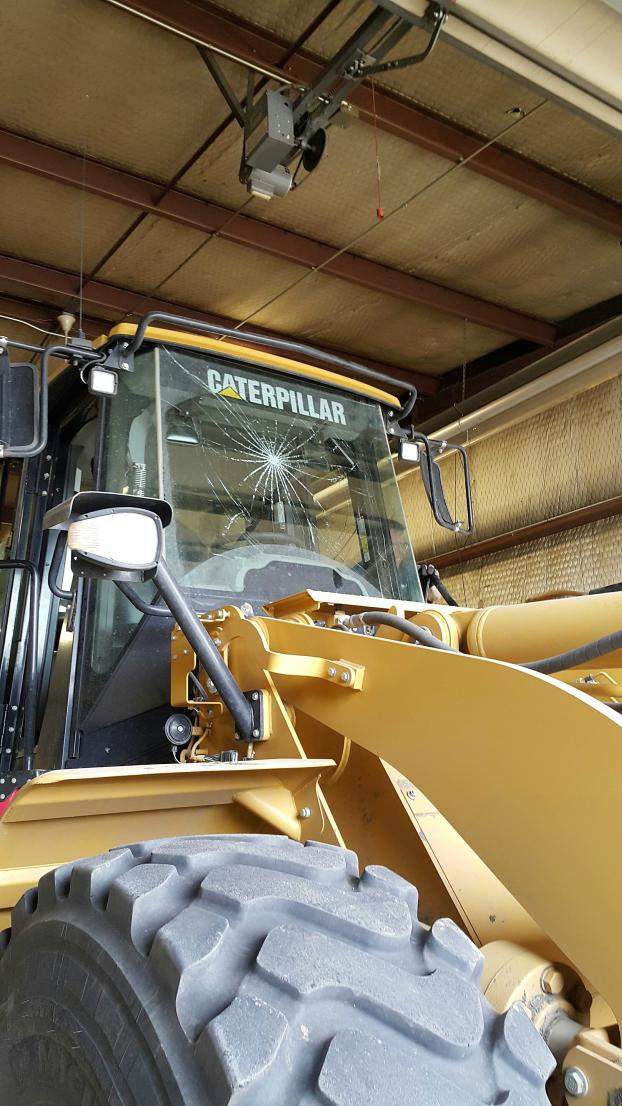 We replaced the windshield on this Caterpillar loaded the other day.