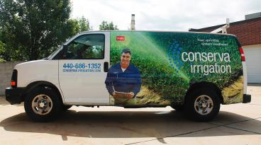 Partial Vehicle Wrap for Conserva