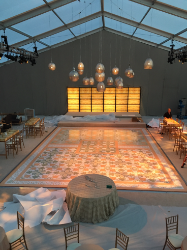 Dance Floor and Acrylic Backdrop Graphics for Wedding, Carmel, CA
