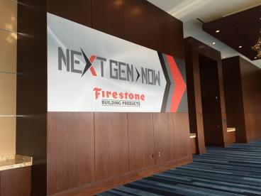 Firestone Building Products, Corporate Branding/Event Graphics, Renaissance Hotel Dallas