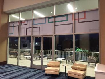 Hewlett Packard Corporate Branding/Event Window Graphics, Renaissance Hotel Dallas