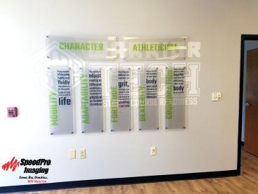 Warrior Tech Gets Acrylic Prints Installed