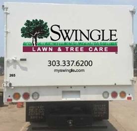 Swingle Lawn & Tree Care box trucks wrapped by speedprodenver.net