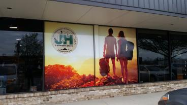 J & H Outdoor Window Vinyl