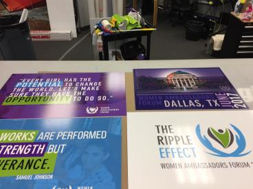 Mounted Poster Prints for the SMU Women Ambassador's Forum!