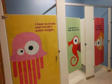 Greater Cleveland Aquarium: Bathroom Doors