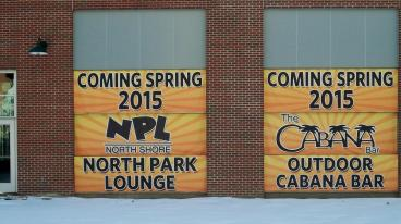 Construction Banners for North Park Lounge