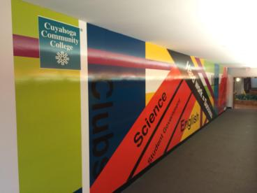 Cuyahoga Community College Wall Mural