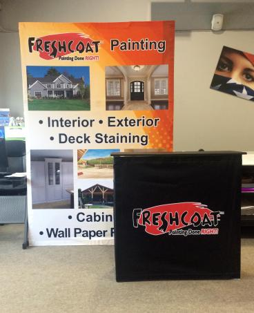 Trade Show Display for Fresh Coat Painting