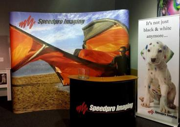 SpeedPro Imaging Curved Hop-Up Trade Show Display Tempe-Chandler Arizona