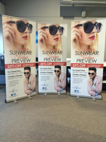 Summer Promotional Banner Stands