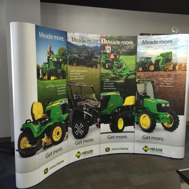 Meade Tractor Trade Show Pop Up Display