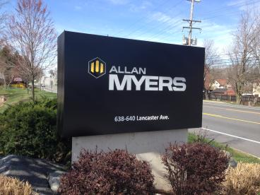 Allan Myers Monument Sign
