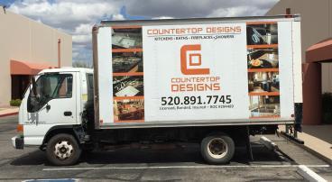 Countertop Designs partial truck wrap
