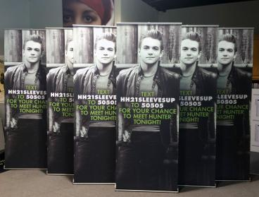 Hunter Hayes Retractable Banner Stands