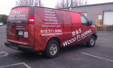 R&S Wood Flooring Van Wrap Nashville / Williamson County and Middle Tennessee Truck Wrap  We do vehi