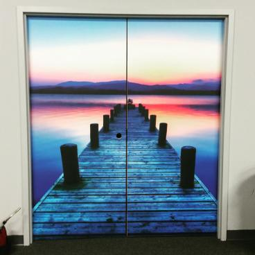 High Quality Vinyl Wrapped Double Doors
