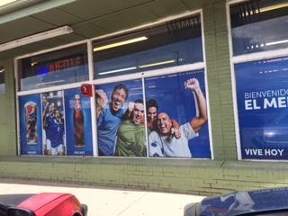 Pepsi Window Mesh Install