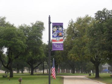 Pole banner for Restland Cemetery