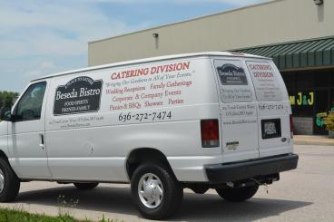 After pic of Beseda's catering van
