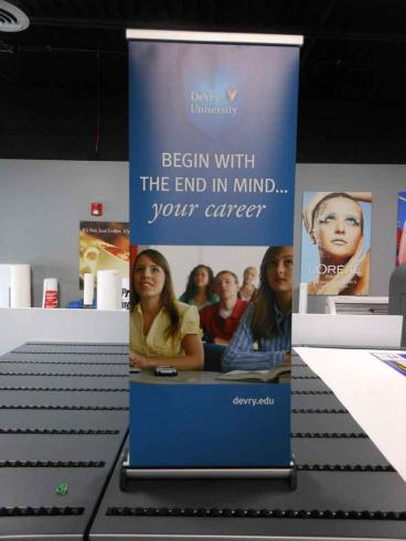 Table Top Banner Stand - DeVry University - Downers Grove, IL
