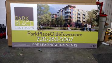 Park Place:  Aluminum Composite Sign