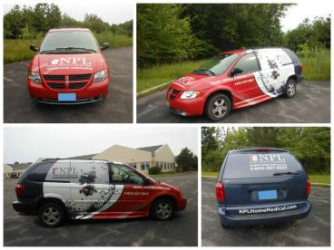 Another wrap completed by SpeedPro Cleveland West for NPL Homecare!