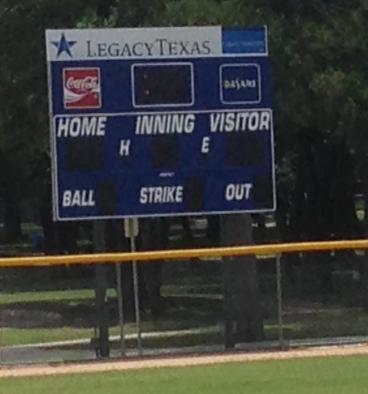 Scoreboard Sign
