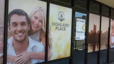 Highland Place: Window Graphics
