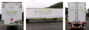 Trailer Graphics for Stetson Convention Services in Pittsburgh, PA