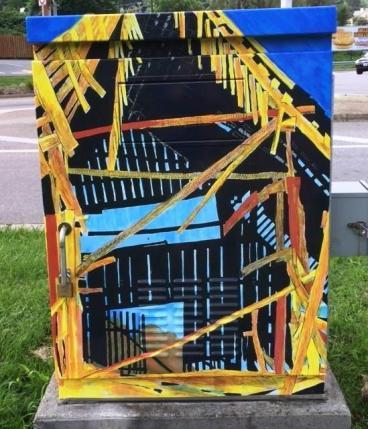 Abingdon Main Street Traffic Signal Box Wrap