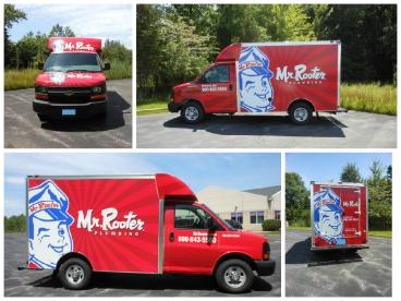 Mr.Rooter print and install completed by SpeedPro Cleveland West!