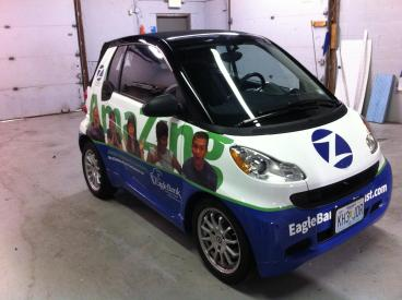 Eagle Bank Smart Car Wrap