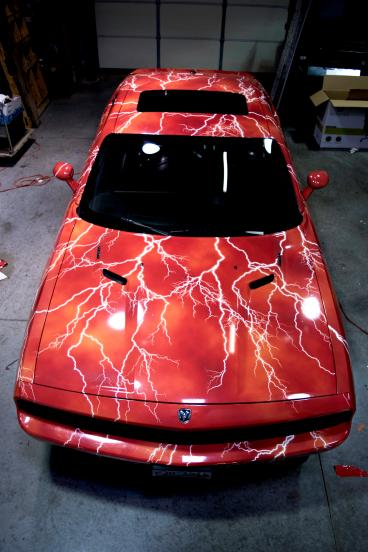 Full Lightning Car Wrap