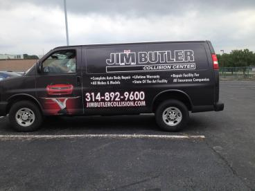 Jim Butler Collision Center Van