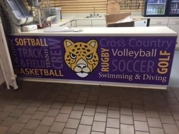 Concession stand wrap printed and installed by SpeedPro Imaging Cleveland West!