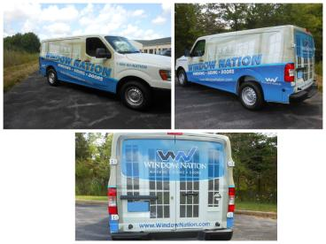 Window Nation wrap printed and installed by SpeedPro Cleveland West!