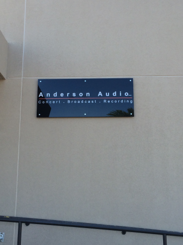 Black acrylic sign we did for Anderson Audio in Camp Hill, PA