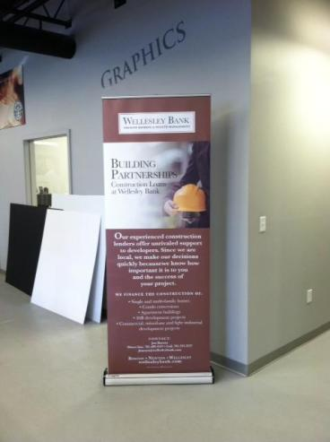 Wellesley Bank Trade Show Banner Stand