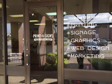 Store Front Window Graphics