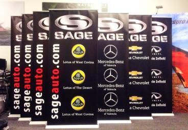 Sage Auto Retractable Banner Stands