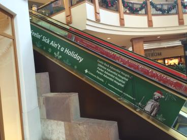 Park Meadows Mall Escalator: Large Format Printing and Install